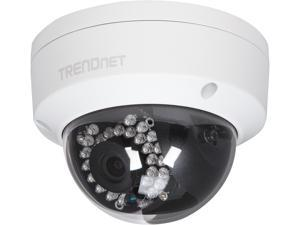 TRENDnet TV-IP311PI (v1.0R) 10/100 Mbps PoE Port Outdoor Vandal Resistant 3 MP HD Dome Day/Night IP Camera