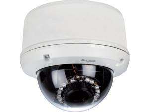 D-Link DCS-6510 Vandal Proof Outdoor Fixed Dome IP Network Camera, day/night, 20M IR, PoE, H.264, IP-66