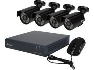 Swann SWDVK-444004A 4 Channels HD DVR w/ 500GB HDD and 4 x 720TVL Day/Night Outdoor Camera