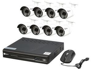 Swann SWNVK-873008-US 8 Channel H.264 Level 8 Channel 3MP Network Video Recorder & 8 x NHD-815 3MP Cameras