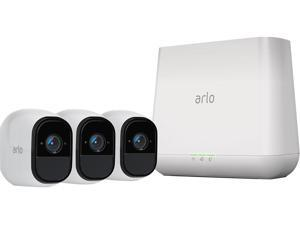 NETGEAR Arlo Pro Security System - 3 Rechargeable Wire-Free HD Night Vision Indoor/Outdoor Security Camera with Audio and Siren - VMS4330-100NAS