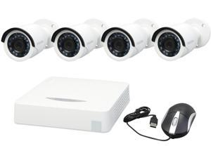 LaView LV-KDV2404W1 4 Channel H.264 Level 960H 4 CH HD Security DVR System w/ Easy DIY 4 x  1000TVL Infrared Surveillance Cameras (No HDD Included, Sold Separately)