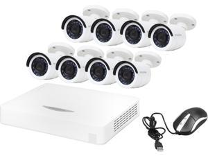 LaView LV-KDV2608W1 16 Channel H.264 Level 960H 16CH HD Security DVR System w/ Easy DIY 8 x 1000TVL Infrared Surveillance Cameras (No HDD)
