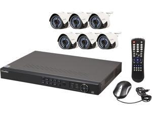 LaView LV-KN988P86A4 Premium IP Surveillance System 8 Channel NVR + 6 x Full HD 1080P Day/Night In/Outdoor Cameras (No HDD Included)
