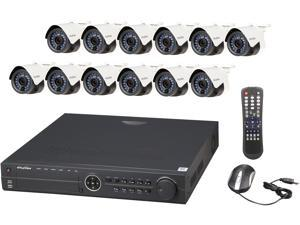 LaView LV-KN996P1612A4 Premium IP Surveillance System 16 Channel NVR + 12 x Full HD 1080P Day/Night In/Outdoor Cameras (No HDD Included)