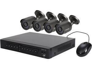 LaView LV-KDT0404FTB5 1080p / 720p HD Analog DVR 4 Channel TVI Security System w/ 4x HD 720P Night Vision Outdoor Camera (No HDD)