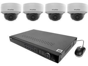 LaView LV-KNT982D22D4 4MP zoom HD 8 Channel NVR PoE IP Security System, with 2pcs 4MP (2688 x 1520p) and 2pcs 2MP (1920 x 1080p) Dome Camera (No HDD Included, Sold Separately)