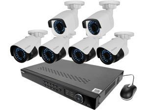 LaView LV-KNT984A42W4 4MP zoom HD 8 Ch. NVR PoE IP Security System with 2pcs 4MP and 4pcs 2MP Bullet Camera