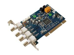 Q-See QSDT4PCRC 4 x BNC Supports 1 SATA HDD (Not Included) PC based 4-channel DVR PCI Card