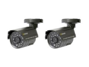 Q-See QSM1424C2 2 Pack Weatherproof Color CMOS Camera Kits with PixelPlus Sensor
