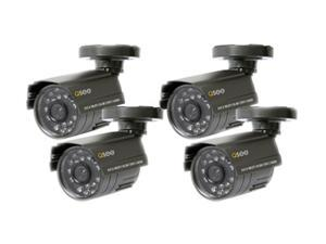 Q-See QSM1424C4 4 Pack Weatherproof Color CMOS Camera Kits with PixelPlus Sensor