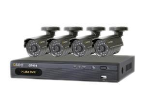 Q-See QT474-411-5 4 Channel DVR with 4 CMOS Cameras