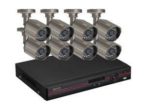 Q-See QC448-818-5 8 Channel H.264 Level Surveillance DVR Kit, 8 x CCD Sensor Day/Night Wide Angle View Lens Outdoor Camera, ...