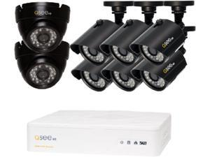Q-See QTH8-8AK 8 Channel AHD Surveillance DVR with 8 x 720P Day / Night In / Outdoor Security Cameras