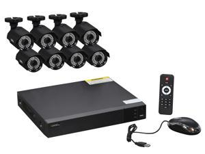 Q-See 8-Channel Full HD 1080p Security System with 8 AHD 1080p Day / Night Bullet Cameras (QTH83-8CN)