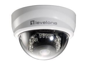 LevelOne H.264 2-Mega Pixel FCS-3101 10/100 Mbps PoE Mini Dome Network Camera w/IR