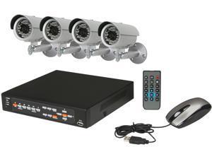 Aposonic A-BR13B4-C500 4 Channel Surveillance DVR Kit