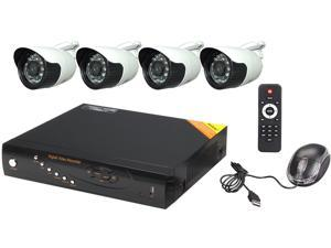 Aposonic A-BR21B4-CF 4 Ch H.264 960H Real Time DVR with 4 x 700 TVL Day & Night Camera, Mobile Viewing, Mac OSX Fully Supported