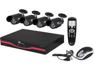 Night Owl LTE-84500 8 Channel LTE H.264 DVR, 4  Day&Night Cameras, 500GB HDD, Surveillance DVR Kit