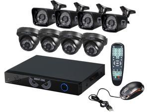 Night Owl B-PE8-47-4DM 8 Channel PRO 960H DVR, Smart Device Remote Playback/Viewing, 8 x 700 TVL Bullet/Dome Cameras - No ...