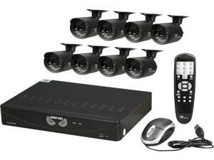 Night Owl B-F650-81-8 8 Channel 8 Channel Video Security System with 8 x 650 TVL Bullet Cameras