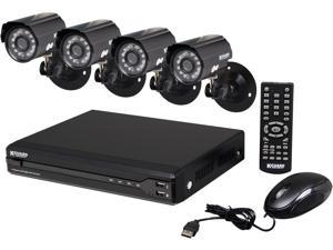 KGuard OT401-4CW134M-500G 4 Channel H.264 Level Surveillance DVR Kit