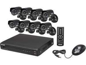 KGuard OT801-8CW134M-500G Surveillance Kit (8CH H.264 DVR with 8 CMOS 420 TVL Cameras) with Remote Web/Mobile Phone/Tablet ...