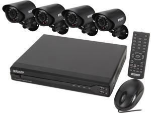 KGuard KG-OT401-4FW426A-500G 4 Channel DVR Security System & 4 Cameras 480 TVL with Smartphone and Tablet Remote viewing