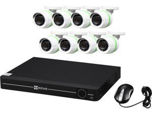 EZVIZ 8 Channel 1080p Analog Security System with 1TB HDD and 8 Weatherproof 1080p Bullet Cameras