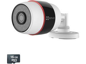 EZVIZ Husky HD 1080p Outdoor Wi-Fi or PoE Video Security Bullet Camera, 16GB MicroSD, Works with Alexa using IFTTT