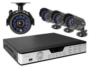 Zmodo PKD-DK4216-500GB 4CH 960H DVR w/ 500GB HDD & 4 x 600TVL Day Night Outdoor Cameras 3G Mobile Access Surveillance Kit