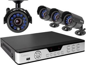 Zmodo PKD-DK4216 4CH 960H DVR w/ 4 x 600TVL Day/Night Outdoor Cameras 3G Mobile Access Surveillance Kit
