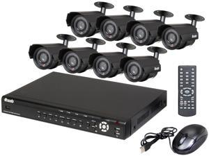 Zmodo KDF6-SARAZ8ZN-NHD 16 Channel DVR & 8 CMOS 480 TVL 30ft IR Weatherproof Bullet Security Cameras Kit