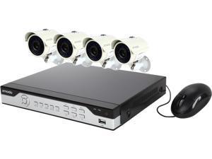 Zmodo KHI4-YARUZ4ZN-1T 4 Channel Video Compression: H.264 Audio Compression: G.711 4CH H.264 960H DVR Security System 1TB HD with 4 700TVL IR Cameras