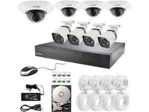 ZMODO ZM-SS76D7B6-8SG-1TB 16 Channel 720p sPOE NVR Security System with 8 HD IP Cameras and 1TB Hard Drive