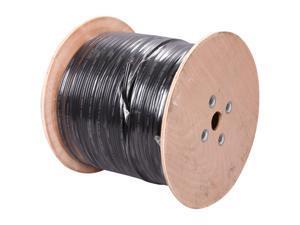 Vonnic CB1000B 1000 ft. Bulk Siamese Cable - UL Listed, Black