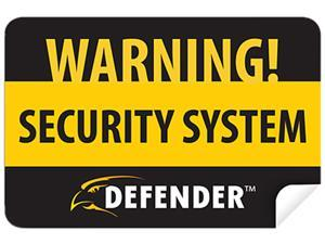 DEFENDER SP100-ST 4 Pack of Window Warning Stickers with UV fade Protection