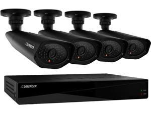 Defender 21154 8 Channel H.264 Level Widescreen Security DVR with 2TB of Storage Including 4 Surveillance 800TVL Cameras