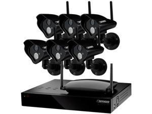 Defender 21312 8 Channel H.264 Level Wireless 8 CH 1TB DVR with 6 Wireless 520TVL Cameras with 100ft Night Vision