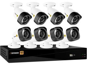 Defender HD1T8B8 8 Channel H.264 Level HD 1080P 8CH with 8 Bullet Cameras