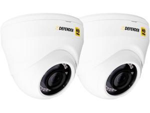 Defender HDCD2 1920 x 1080 MAX Resolution BNC HD 1080p Indoor / Outdoor 2 Pack Dome Security Cameras