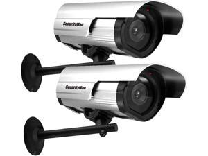 SecurityMan SM-3802-2PK Dummy Outdoor/Indoor Camera with Flashing LED (2 Pack)