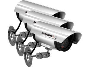 SecurityMan SM-3601S-3PK Dummy Indoor Camera with Flashing LED (3 Pack)