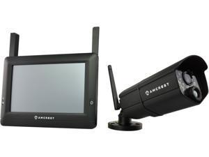 Amcrest WLD895US 4 Channel 720P HD Wireless Camera w/ Wireless 7-Inch Touch-Screen Monitor