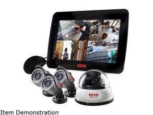 REVO America R4D1BB3BCMB-5G 4 Channel Surveillance DVR Kit