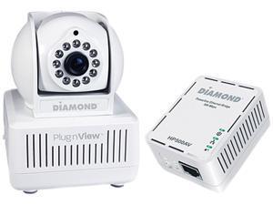 Diamond Multimedia HP500CKP PlugnView Remote Pet Monitoring Internet Night Vision Security Camera kit