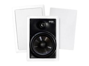 "BIC America M-PRO6W Weather-Resistant 150W 2-Way 6.5"" In-Wall Speaker Pair"