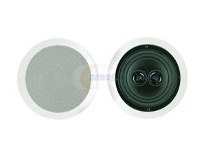 "BIC America MSR6D 6.5"" Dual-Voice Coil Stereo Ceiling Speaker, Single"