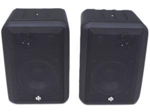 BIC America RtR V44-2 Shielded Indoor/Outdoor Speakers, Pair, Black