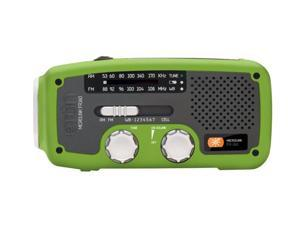 eton Self-Powered AM/FM/NOAA Weather Radio with Flashlight, Solar Power, and Cell Phone Charger(Green) NFR160WXBL